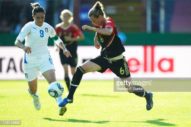 Patrizia Panico of Italy and Simone Laudehr of Germany fight for the ball during the Women's International friendly match between Germany and Italy...