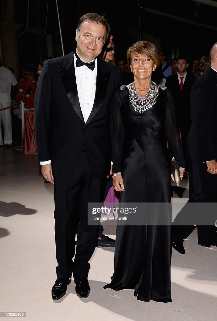 Patrizia Sandretto Re Rebaudengo and Agostino Re Rebaudengo attend the Opening Ceremony during The 70th Venice International Film Festival on August 28, 2013 in Venice, Italy.