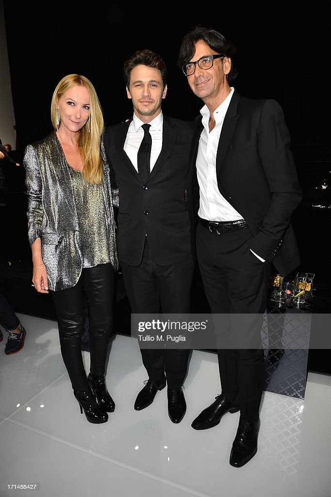 Patrizio di Marco, Frida Giannini and James Franco attend 'Gucci Made to Measure Launch' on June 24, 2013 in Milan, Italy.