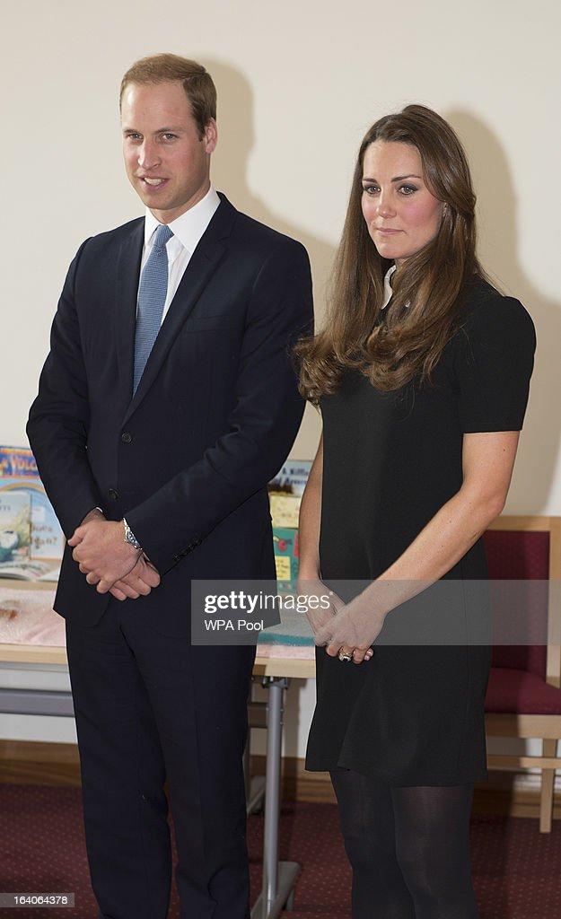 Patron of Child Bereavement UK, Prince William, Duke of Cambridge and Catherine, Duchess of Cambridge as they visit the offices of Child Bereavement UK on March 19, 2013 in Saunderton, Buckinghamshire.