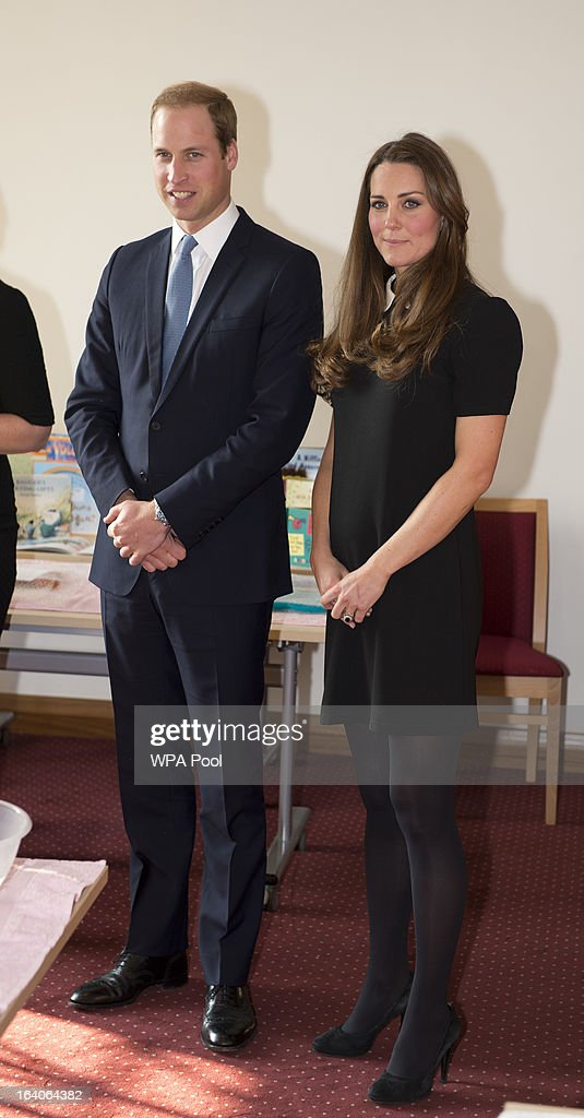 Patron of Child Bereavement UK, <a gi-track='captionPersonalityLinkClicked' href=/galleries/search?phrase=Prince+William&family=editorial&specificpeople=178205 ng-click='$event.stopPropagation()'>Prince William</a>, Duke of Cambridge and Catherine, Duchess of Cambridge as they visit the offices of Child Bereavement UK on March 19, 2013 in Saunderton, Buckinghamshire.