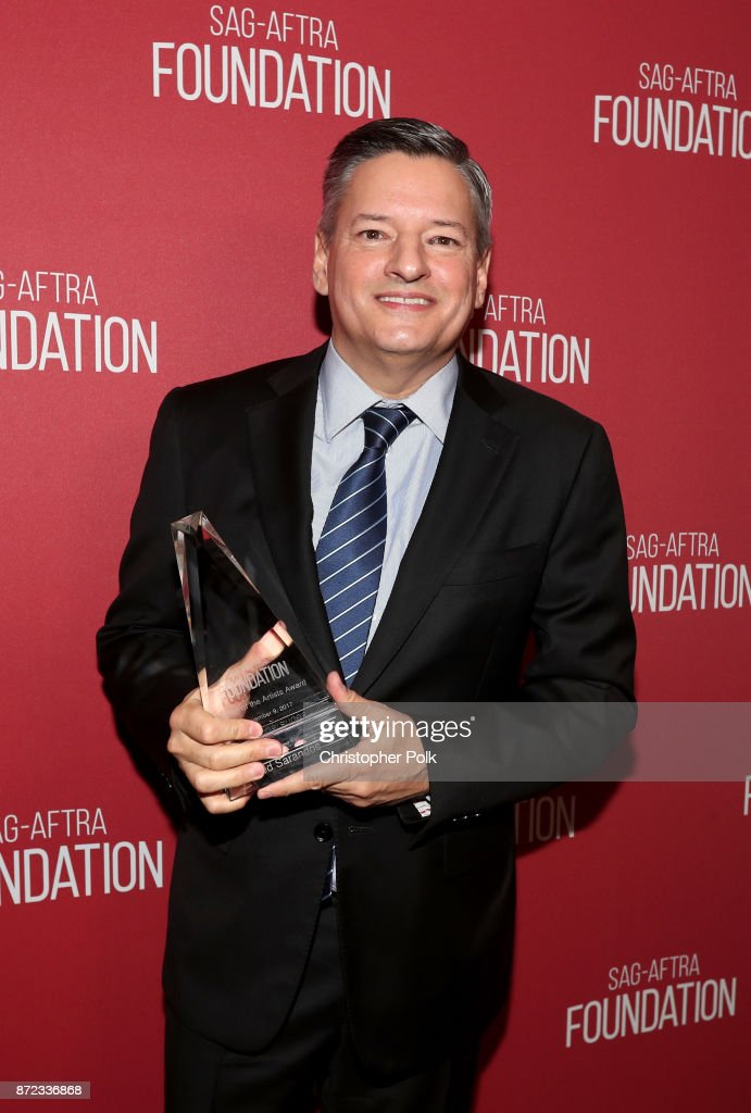 Patron of the Artists Award recipient Ted Sarandos attends the SAG-AFTRA Foundation Patron of the Artists Awards 2017 at the Wallis Annenberg Center for the Performing Arts on November 9, 2017 in Beverly Hills, California.
