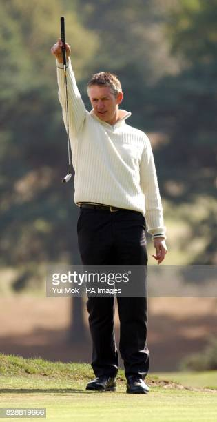 A patron of the charity Gary Lineker during the sixth annual CLIC charity Sunningdale Golf Day at Sunningdale golf course in Berkshire