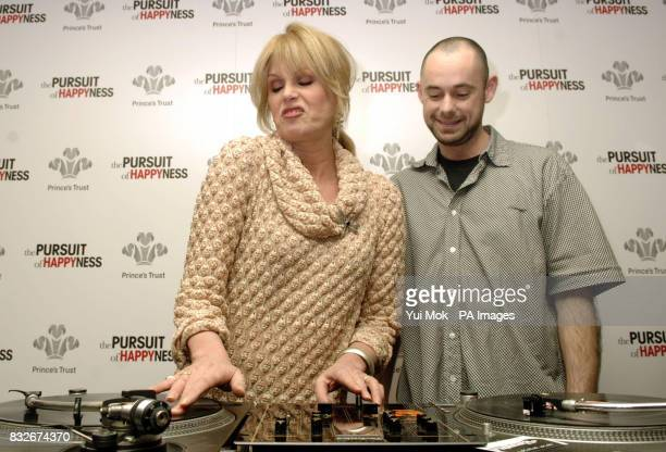 Patron of the charity Joanna Lumley meets DJ Adam Gibbs a beneficiary of the charity at a Prince's Trust charity lunch held in association with the...