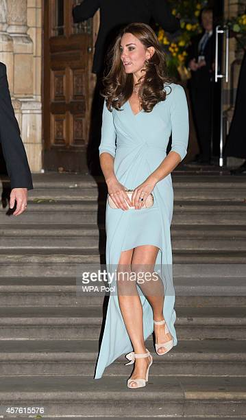 Patron of The Natural History Museum Catherine Duchess of Cambridge leaves the Natural History Museum after she attended the Wildlife Photographer of...