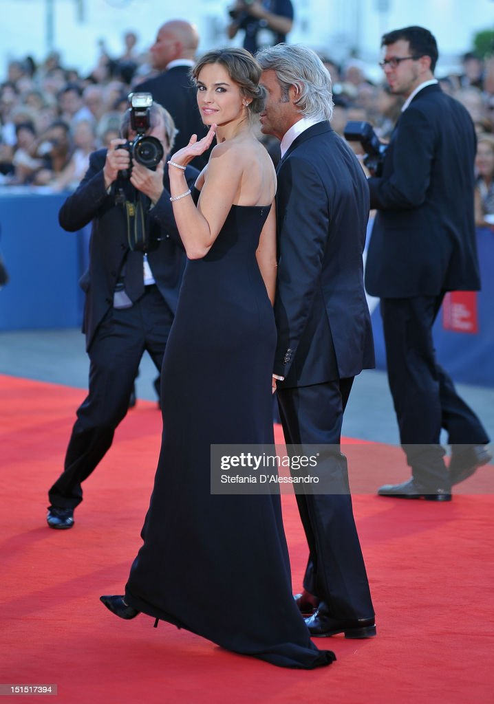 Patroness Kasia Smutniak and producer Domenico Procacci attend Award Ceremony during The 69th Venice Film Festival at the Palazzo del Cinema on...