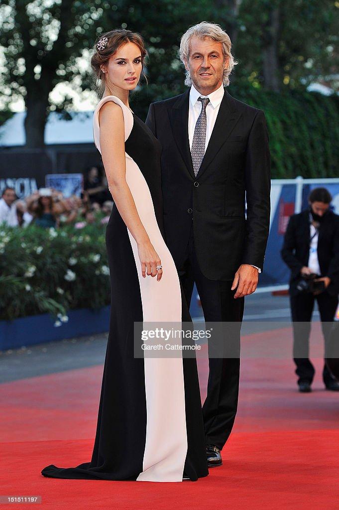 Patroness Kasia Smutniak and producer Domenico Procacci attend the Award Ceremony during The 69th Venice Film Festival at the Palazzo del Cinema on...
