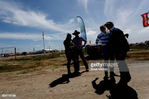 Patrons at the 2017 Deni Ute Muster on September 30 2017 in Deniliquin Australia The annual Deniliquin Ute Muster is the largest ute muster in...