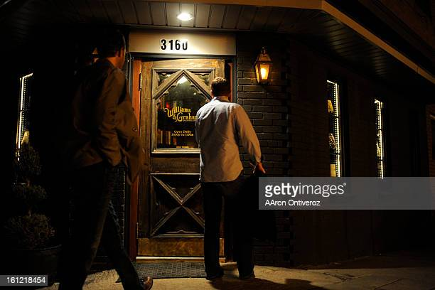 Patrons enter Williams Graham a recentlyopened speakeasy in the Highlands on Tuesday January 10 2012 AAron Ontiveroz The Denver Post