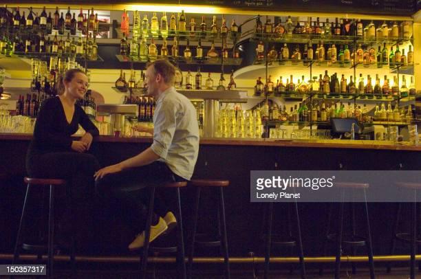 Patrons inside Cafe Dante.