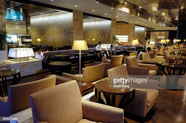 Patrons make use of Singapore Airlines Ltd's Kris lounge for first class passengers at Changi Airport in Singapore on Friday Oct 30 2009 Singapore...