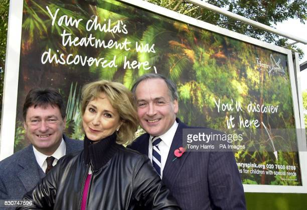 Patrons of the Henry Spink Foundation TV gardener Alan Titchmarsh actress Felicity Kendal and newsreader Alastair Stewart unveil the new advertising...