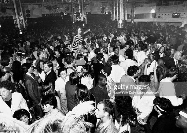 Patrons of the Studio 54 on the dance floor