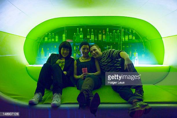 Patrons Relaxing at The Cocoon Club.