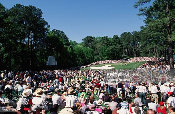 Patrons Watch Play At The 6th Hole During The 1998 Masters Tournament