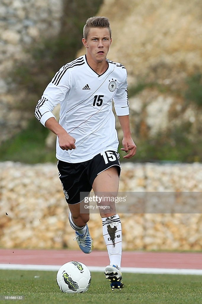 Patryk Dragon of Germany during the Under17 Algarve Youth Cup match between U17 Portugal and U17 Germany at the Stadium Bela Vista on February 12, 2013 in Parchal, Portugal.