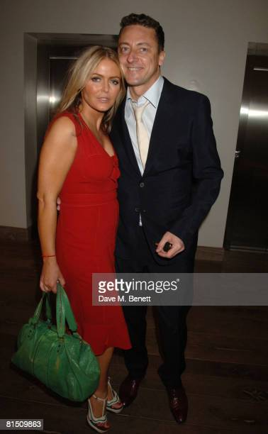 Patsy Kensit and Jeremy Healy attend the Boodles Wonderland collection launch party at the Haymarket Hotel on June 9 2008 in London England