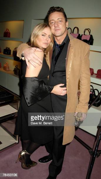 Patsy Kensit and partner Jeremy Healy attend Prada's christmas party at Prada on December 13 2007 in London England