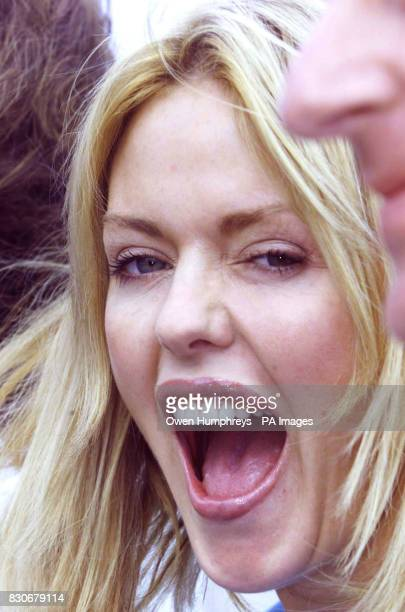 Patsy Kensit at the prefilming launch of her next film which she described as being about 'people in the wrong relationships getting in the right...