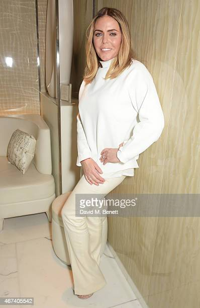 Patsy Kensit attends the launch of her first beauty collection Preciously Perfect by Patsy Kensit at the Corinthia Hotel London on March 24 2015 in...