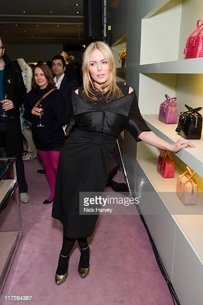 Patsy Kensit attends the Prada Christmas Cocktail Party at the Prada Store Bond Street on December 13 2007 in London England