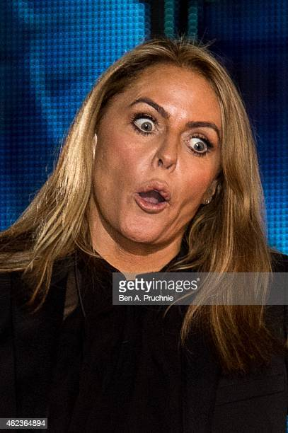 Patsy Kensit becomes the 3rd celebrity evicted from the Big Brother house at Elstree Studios on January 27 2015 in Borehamwood England