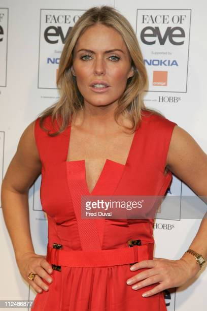 Patsy Kensit during London Fashion Week Spring/Summer 2007 Face of Eve 2007 Model Competition Final Show and Press Boards at BFC Tent in London Great...