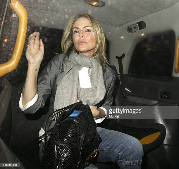 Patsy Kensit during Patsy Kensit Sighting at The Ivy in London January 24 2006 at The Ivy in London Great Britain