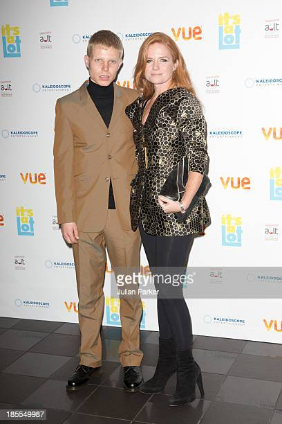 Patsy Palmer and and her son Charley Palmer Merkell attend the West End Premiere of 'It's A Lot' at Vue West End on October 21 2013 in London England