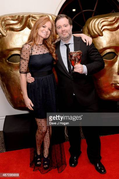Patsy Palmer and Dominic Mitchell winner of the Writing Drama award for 'In The Flesh' pose in the press room at the BAFTA Television Craft Awards...