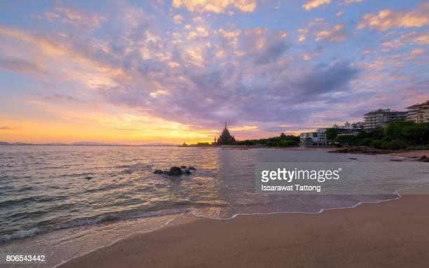 Pattaya City beach and Sea in Twilight
