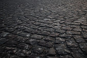 Pattern cubic stones road background
