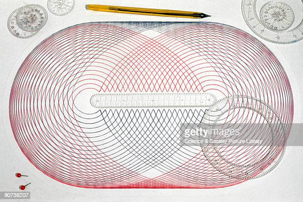 Pattern drawn by a memeber of the Science Musem Workshops staff using a Spirograph a popular graphic toy that can be used to draw combinations of...