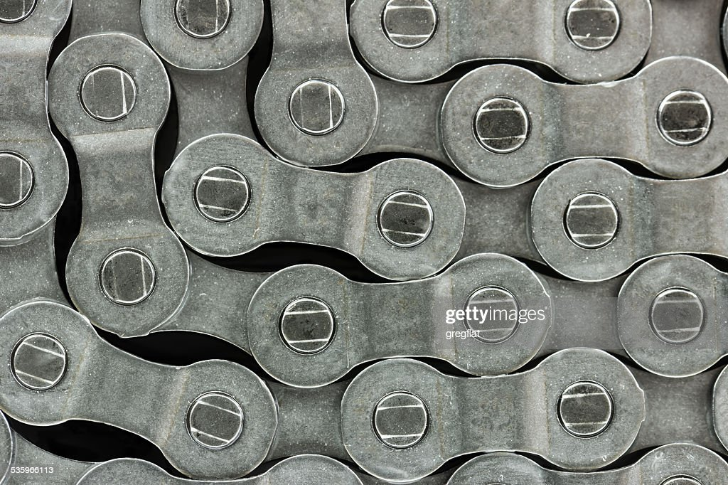 Pattern formed by the bicycle chain : Stock Photo