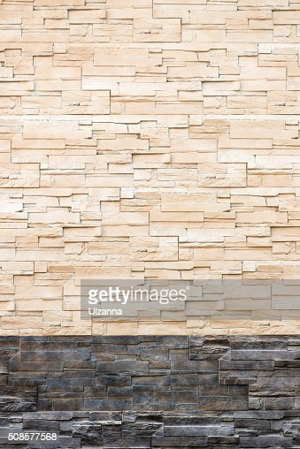 Pattern from decorative slate stone wall surface. : Stock Photo