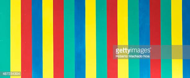 Pattern in a board with the bright multiple colors