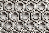 A pattern of nuts for the bolts
