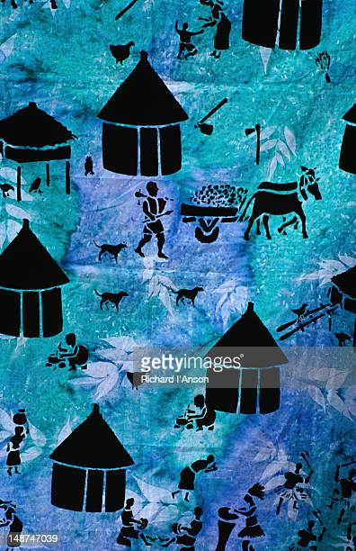 Patterned fabric for sale at the Mbare Market