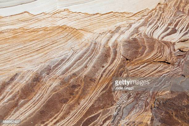 Patterned sandstone shaped by mineral-rich water
