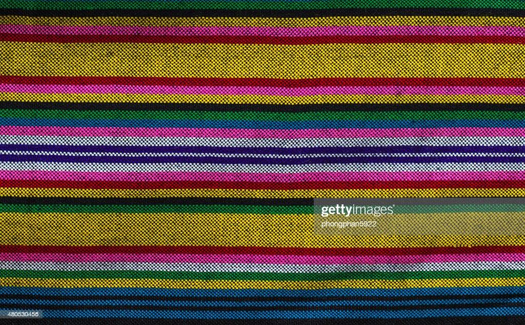 Patterns hand made fabric woven in the North of Thailand. : Bildbanksbilder