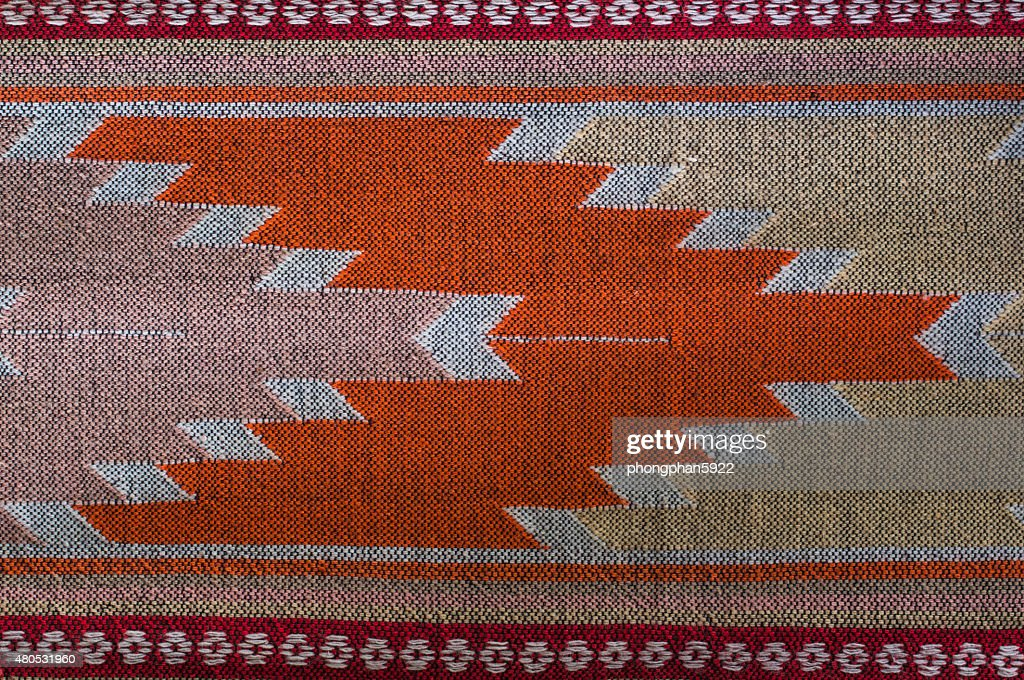 Patterns hand made fabric woven in the North of Thailand. : Stockfoto