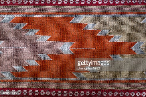 Patterns hand made fabric woven in the North of Thailand. : Bildbanksbilder