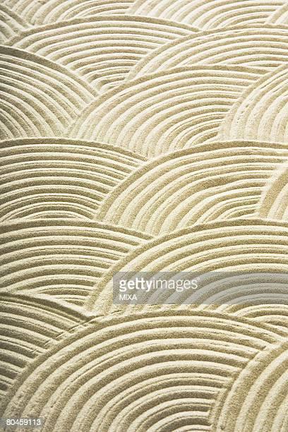 Patterns in Japanese rock garden