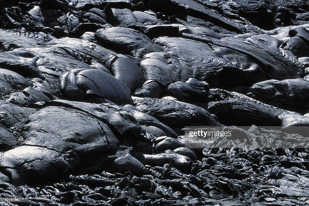 Patterns in Pahoehoe lava, Big Island, Hawaii  : Stock Photo