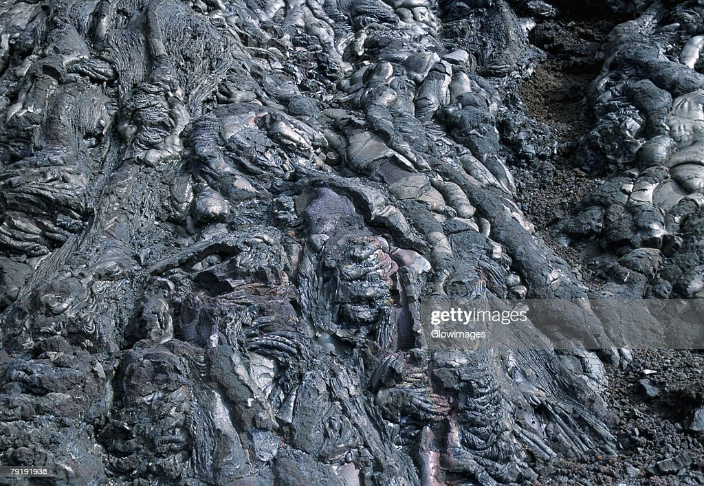 Patterns in Pahoehoe lava, Big Island, Hawaii  : Foto de stock