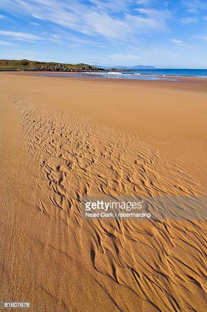 Patterns in the sand at Redpoint sandy beach, Wester Ross, Scotland, United Kingdom, Europe