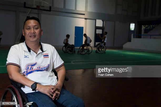 Pattharabhandhu Krisana President of Thailand's wheelchair basketball team He is seen here in a training gym at a government facility in Cholburi...