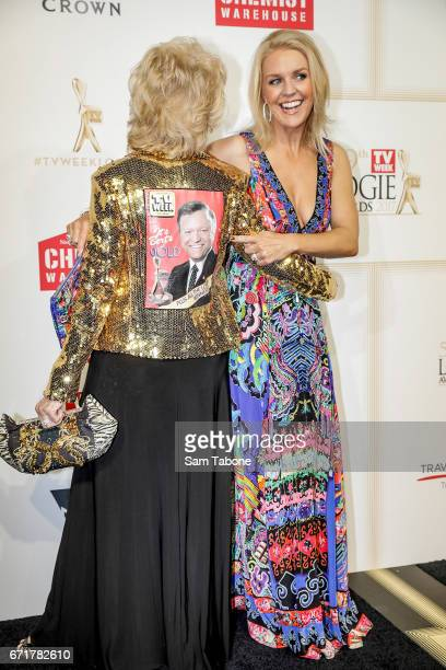 Patti and Lauren Newton arrives at the 59th Annual Logie Awards at Crown Palladium on April 23 2017 in Melbourne Australia
