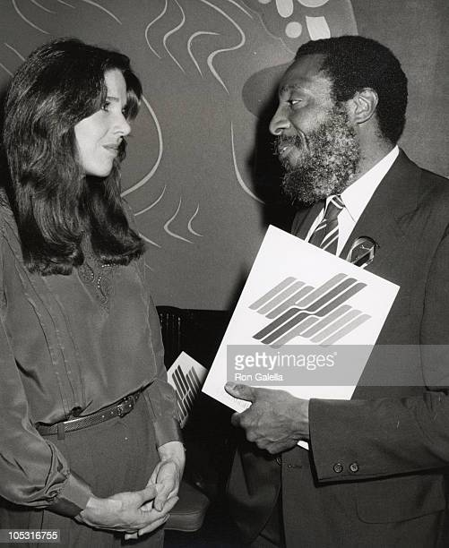 Patti Davis and Dick Gregory during World Hunger Event at China Doll Restaurant in Los Angeles California United States