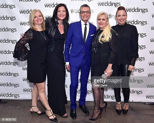 Patti Follo Jennifer Marder Randy Fenoli Ines DiSanto and Veronica DiSanto attend Martha Stewart Weddings Bridal Fashion Week Party at Hudson...
